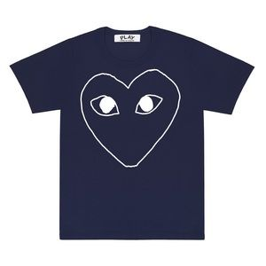 Comme Des Garcon Play navy T-shirt (runs small!)